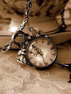 Old Clocks or pocket watches From Ain't It Funny How Time Slips Away Board Old Clocks, Antique Clocks, Vintage Clocks, Pocket Watch Necklace, Clock Necklace, Time Stood Still, Time Clock, Ticks, Belle Photo