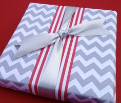 Grey Chevron Premium Wrapping Paper on Etsy, $8.59 CAD