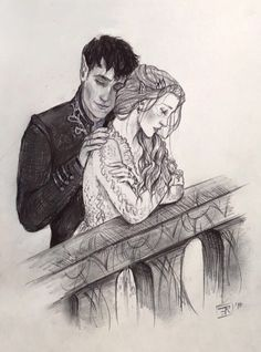 Rhysand and Feyre from A Court of Mist and Fury by Sarah J. High Lord and Lady A Court Of Wings And Ruin, A Court Of Mist And Fury, Hanya Tattoo, Feyre And Rhysand, Crown Of Midnight, Empire Of Storms, Sarah J Maas Books, Fanart, Throne Of Glass Series