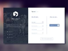 Hey guys ! Here is a try for a sign up / login page for my startup, hope you'll enjoy it ! Don't hesitate to give me some love by pressing your