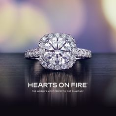 Hearts On Fire Engagement Rings always turn heads.