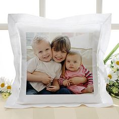 "Another way to make your wedding ""personal""...this pillow could be your engagment photo OR maybe a pillow in memory of a loved one who could not be there on your special day.  Precious Photo Linen Keepsake Pillow"