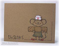 Millie Mousie.  Cute 'thanks' card for a nurse