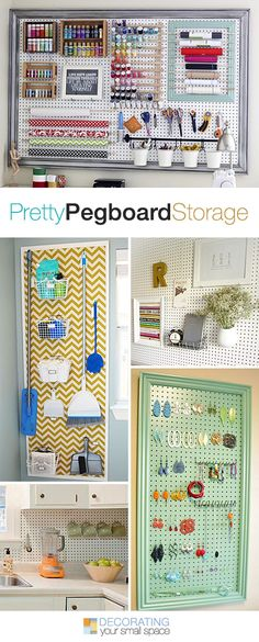 Pretty Pegboard Storage!