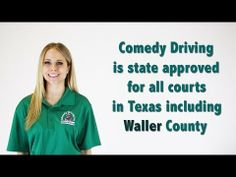 Waller County Texas Defensive Driving | Comedy Driving Inc  #defensivedriving #defensivedrivingtexas #safedriving #safedrivingtexas #trafficschool #trafficschooltexas #followme #pinme  http://www.comedydriving.com/
