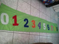 Cortina con los números