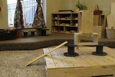 Ramp Ideas in Early Childhood Classrooms Fairy Dust Teaching, Reggio Emilia Classroom, Early Years Teacher, Holistic Education, Carpet Squares, Construction Area, Block Play, Habitat For Humanity, Cardboard Tubes
