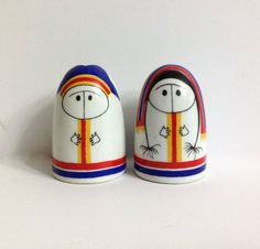 Vintage Arabia Finland Lappalainen Eskimo Salt by MidCenturyMary