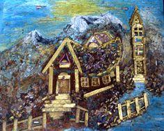 """"""" Crkva od lijepitih materijala na podlozi """" + boje ... naslikao slikar amater Pero Popić ... lijep pozzdrav i svako dobro svim ljudima svijeta ... a pogotovo svakome želim obilje zdravlja, ljubavi, mira Božijega, veselja i blagostanja tako da budemo sretni i zadovoljni s svojim životom ...."""