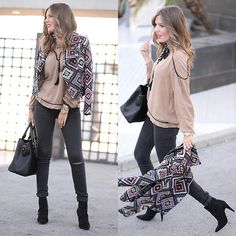 Get this look: http://lb.nu/look/7820320  More looks by Helena Cueva: http://lb.nu/miaventuraconlamoda  Items in this look:  Fashion Pills Jacket, The Desire Shop Blouse, Zara Jeans, Zara Booties   #bohemian #casual #chic