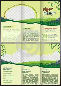 Cartoon Brochure Trifold Template Design Editable A Size - Brochure trifold template