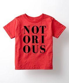 Heather Red 'Notorious' Tee - Toddler & Kids #zulily #zulilyfinds