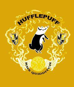 Hufflepuff Quidditch Shirt by ThimbleBostitch.deviantart.com on @DeviantArt