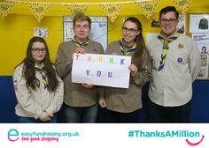 """@easyuk #ThanksAMillion"" #Giving #Fundraising #Charity"