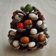 Vánoční tvoření s dětmi - Stromeček z šišky | Moje mozkovna