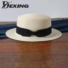 [Dexing] Lady sun caps  straw hat boater hat Women's bow summer Hats For Women Beach panamaflat  bow straw hat chapeau femme //LIMITED TIME Price: $11.00 on sale from $ 21.98 & FREE Shipping //     #accessorize #fashion
