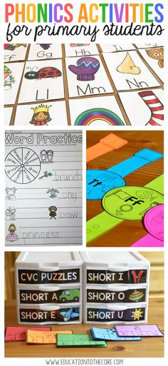 Lots of activities jam packed into this phonics bundle. Great for primary students and emergent readers!