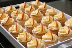 Week of Menus: Peach Cupcakes with Peach Cream Cheese Frosting: Laughter