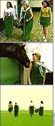 Luc Mertes . Grass dress 1998