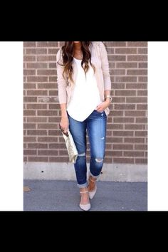 This is just a cute outfit for a day out or a date during the day.