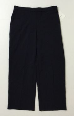 Croft & Barrow Petite Women's Blue Pants With Rear Elastic Size 10P Short NWT #CroftBarrow #CasualPants