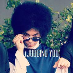 Prince princing. Judging always.