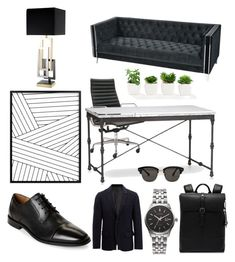 """büro"" by mlk-krstf ❤ liked on Polyvore featuring Herman Miller, ELK Lighting, Eichholtz, Ted Baker, Citizen, Joseph, Gentle Monster, Florsheim, men's fashion and menswear"