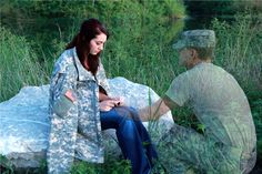 """""""No matter the miles that keep us apart...I am always with you in your heart."""" written by Gloria Webster.  Army couple photo.  Engagement photo  Taken by Gloria Webster"""