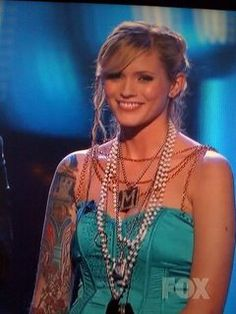 Megan Joy of American Idol is shown here sporting her Jewel Kade bling. Craftyj.jewelkade.ca