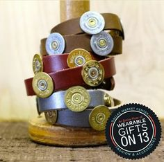 Red Haute Temps, This shotshell wrap bracelet lends a country take on this hot accessory #wearablegifts #dallasmarket
