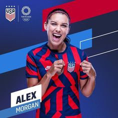 Alex Morgan Us Soccer, Alex Morgan, Tokyo 2020, Summer Olympics, One Team, First Nations, Baseball Cards, Football, Women