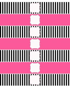 Free Printable Water Bottle Labels   Party for Miley   Kevin & Amanda