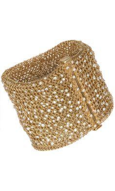 #SIDNEY GARBER Gold & Diamond Cuff