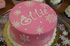 "Winter ""onederland"" cake."