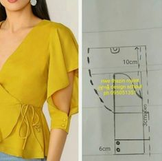 Source by wanita Blouse Patterns, Clothing Patterns, Blouse Designs, Kurti Sleeves Design, Sleeves Designs For Dresses, Fashion Sewing, Diy Fashion, Sewing Sleeves, Pattern Draping