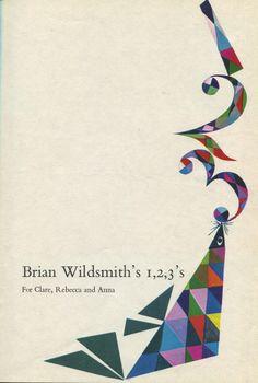 """""""brian wildsmith's 1,2,3's""""  1965"""