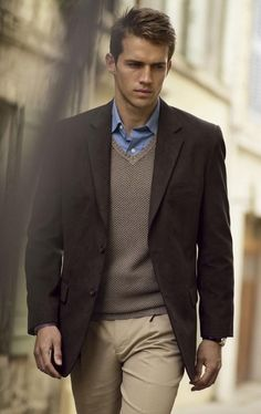 business casual men | ... Business Casual and Business Formal / Business Casual Jacket over V