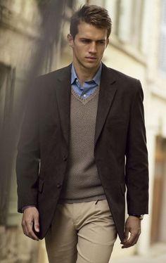 business casual men | ... Business Casual and Business Formal / Business Casual Jacket over V