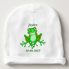 Kid's Cute Tree Frog Baby Beanie - kids kid child gift idea diy personalize design