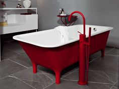 Baignoire rectangulaire MORPHING FREE STANDING by Kos by Zucchetti design Ludovica Roberto Palomba