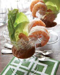 Vermouth Poached Shrimp Served with a Ginger Remoulade. Via Food and Wine Magazine