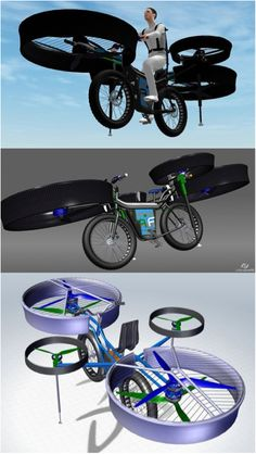 Repin if you'd ride around in this helicopter bike!