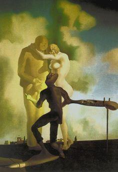"""Salvador Dali, Spanish, """"Meditation on the Harp"""", c. oil on canvas; Salvador Dali Oeuvre, Salvador Dali Museum, Salvador Dali Paintings, Figueras, Spanish Artists, Art Moderne, Surreal Art, Max Ernst, Famous Artists"""