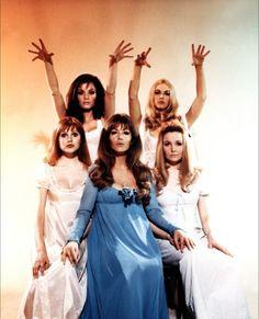 'The Vampire Lovers' 1970: Kate O'Mara, Kirsten Lindholm, Madeleine Smith, Ingrid Pitt & Pippa Steele