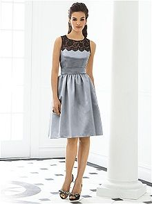 After Six Style 6644 #gray #bridesmaid #dress