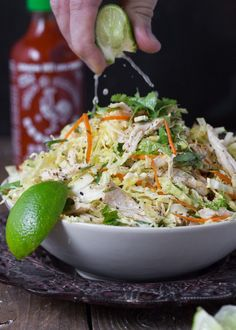 """thedinnerconcierge: """"Vietnamese~Inspired Chicken and Cabbage Salad (via The Urban Poser:: Vietnamese Inspired Chicken & Cabbage Salad (Paleo)) """" Asian Recipes, Whole Food Recipes, Cooking Recipes, Healthy Recipes, Dinner Recipes, Paleo Dinner, Healthy Meals, Dinner Ideas, Quick Recipes"""