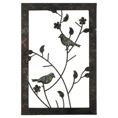 Pacific Lifestyle Bonita Birds Wall Accent Framed Graphic Art