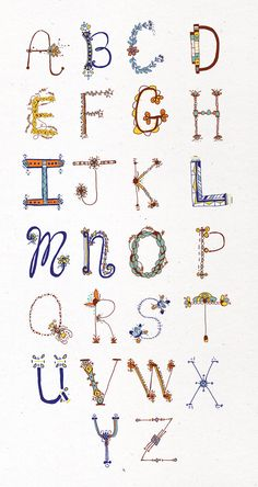 Alphabet                                                                                                                                                                                                                                                              by Kate Whitley