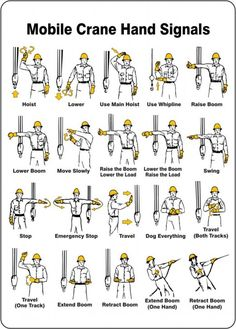 19 Awesome Crane Hand Signals Chart