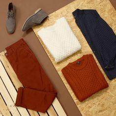 Le froid revient, on choisit les couleurs chaudes (chemise TY423 pantalon TZ733 chaussures TV848 pulls disponibles en magasin) #kiabicolorelavie #instafashion #instahomme #modehomme #automne #tenuedujour #tendance #mode #instaootd #instadaily